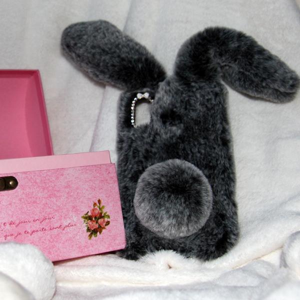 Накладка Faux Fur Rabbit для Xiaomi Redmi 6 PRO